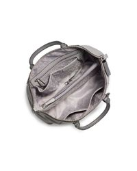 Michael Kors | Gray Riley Large Leather Satchel | Lyst