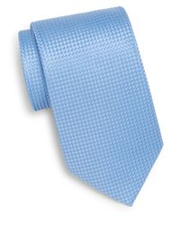 Burma Bibas | Blue Tonal Basketweave Silk Tie & Gift Box for Men | Lyst