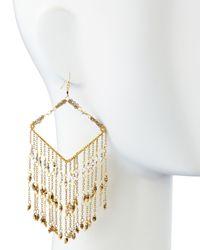 Nakamol | Metallic Chevron-beaded Chain Fringe Earrings | Lyst
