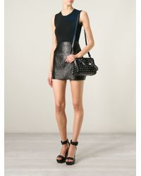 Alexander McQueen - Black Padlock Mini StuDDED Shoulder Bag - Lyst