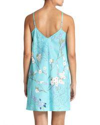 Natori - Blue Sakura Floral Cotton Chemise - Lyst