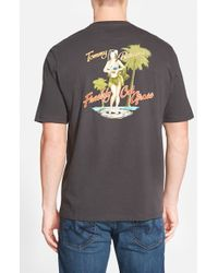 Tommy Bahama | Black 'freshly Cut Grass' Short Sleeve T-shirt for Men | Lyst