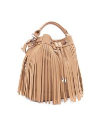 Forever 21 - Natural Fringed Faux Leather Bucket Bag - Lyst