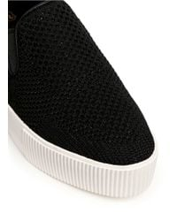 Ash | Black 'knight' Mix Knit Skate Slip-ons | Lyst