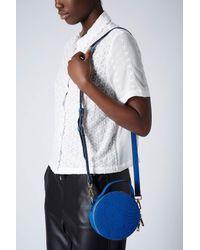 TOPSHOP - Blue Snake Coin Bag - Lyst