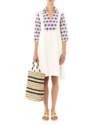 Thierry Colson | Blue Angellica Printed Bib Shirt Dress | Lyst