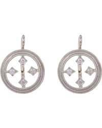 Cathy Waterman - White Stained Glass Drop Earrings - Lyst