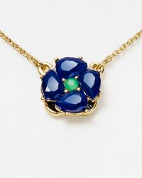 kate spade new york | Blue Izu Petals Pendant Necklace 14 | Lyst