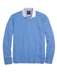 Brooks Brothers | Blue Contrast Collar Rugby Shirt for Men | Lyst