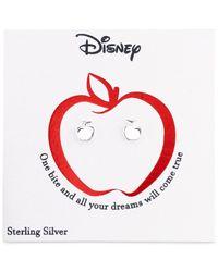 Disney - Metallic Snow White Apple Stud Earrings In Sterling Silver - Lyst