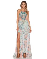 Camilla | Multicolor Sheer Overlay Dress | Lyst