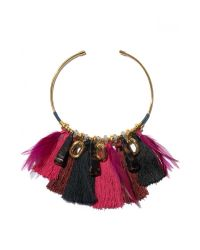 Lizzie Fortunato | Metallic Crimson Tassel Collar Necklace | Lyst