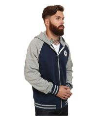 Converse | Blue Patch Hooded Baseball Jacket for Men | Lyst