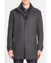 Marc New York | Gray By Andrew Marc 'morningside' Wool Blend Car Coat for Men | Lyst