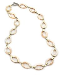 John Hardy | Metallic Dot Buffalo Horn, 18k Yellow Gold & Sterling Silver Marquis Link Necklace | Lyst