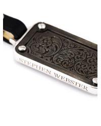 Stephen Webster - Green Baroque Patterned Dog Tag Pendant Necklace for Men - Lyst
