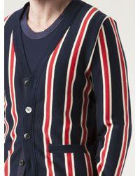 Sacai - Blue Striped Cardigan for Men - Lyst