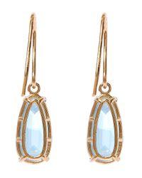 Suzanne Kalan - Gold English Blue Topaz Pear Drop Earrings - Lyst