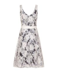 Almost Famous | Gray Floral Occasion Dress | Lyst