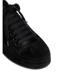 Ann Demeulemeester - Black Suede Low Top Sneakers - Lyst
