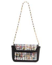 MSGM | Black Recycled Paper Shoulder Bag | Lyst