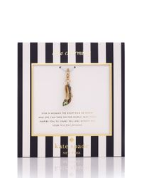 kate spade new york - Metallic Horseshoe Charm - Lyst