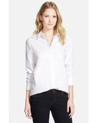 Foxcroft - White Colorblock Tunic Shirt - Lyst