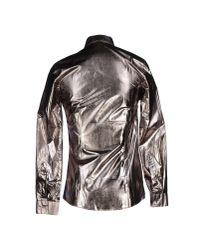 Les Hommes - Metallic Shirt for Men - Lyst