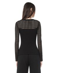 Alexander Wang | Black Circular Hole Long Sleeve Top | Lyst