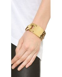 House of Harlow 1960 - Metallic Id Bracelet - Gold - Lyst
