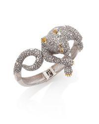 Alexis Bittar | Metallic Elements Moonlight Crystal Lounging Panther Bracelet | Lyst
