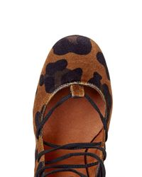 TOPSHOP - Multicolor Gold Round Toe Ghillie Shoes - Lyst