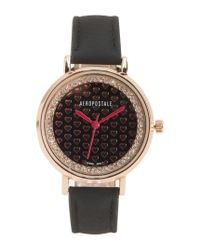 Aéropostale | Black Patterned Face Watch | Lyst