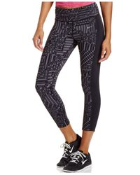 Nike | Gray Epic Lux Print Cropped Leggings | Lyst