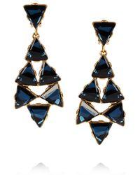 Oscar de la Renta | Metallic 24karat Gold Plated Swarovski Crystal Clip Earrings | Lyst