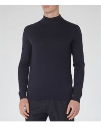 Reiss - Blue Windsor Merino Jumper for Men - Lyst