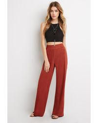 Forever 21 | Red Wide-leg Smocked Pants | Lyst