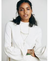 Free People | White Structured Flounce Top | Lyst