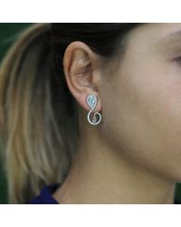 Inbar | White Festival Diamond Earrings | Lyst