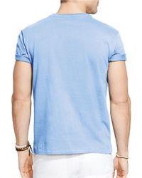 Polo Ralph Lauren | Blue Jersey Crewneck for Men | Lyst