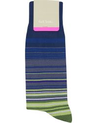 Paul Smith | Blue Higgle Striped Socks for Men | Lyst