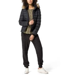 Tommy Hilfiger - Black Down Jacquard Jacket - Lyst