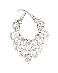 Carole Tanenbaum | Metallic Vintage Kenneth Jay Lane Large Rhinestone Bib Necklace | Lyst