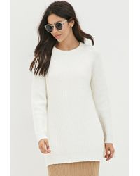 Forever 21 - Natural Dual Slit Wool-blend Sweater - Lyst