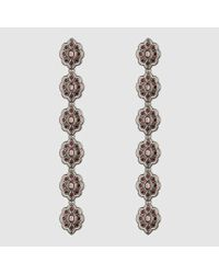 Gucci - Metallic Earrings With Swarovski Crystals - Lyst
