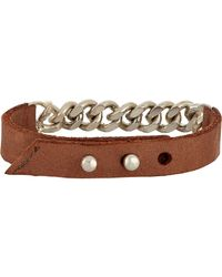 Loren Stewart | Brown Leather & Chain Bracelet for Men | Lyst