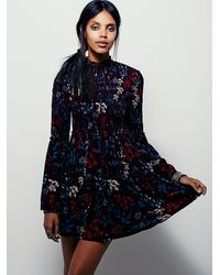 Free People - Purple Womens Alabama Gateway Printed Tunic - Lyst