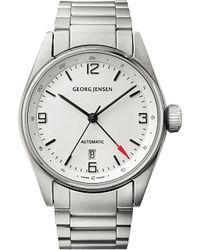 Georg Jensen | Metallic Delta Classic Stainless Steel Watch 42mm for Men | Lyst