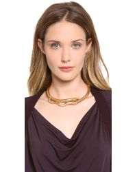 Aurelie Bidermann - Metallic Gold Articulated Snake Necklace - Lyst