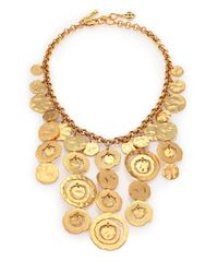 Oscar de la Renta | Metallic Circle Bib Necklace | Lyst